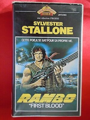 K7 Video Vintage Vhs Stallone Rambo First Blood Hollywood - Prodis Original Rare
