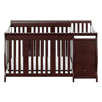 Storkcraft Portofino 4-in-1 Convertible Crib and Changer Set - Espresso