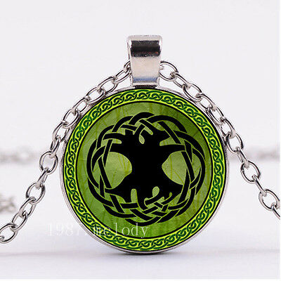 Photo Cabochon Glass necklace Silver popular pendants(Celtic Tree of life