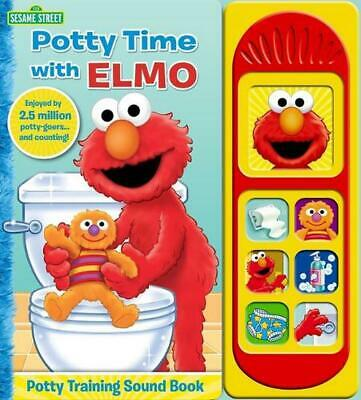 Potty Time with Elmo Little Sound Book Hardcover Book Free Shipping!