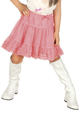 Childrens Size White 60s Girl Knee Boots
