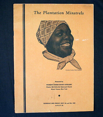 The Plantation Minstrels Mount Vernon NY 1938 Chester Hill Church Aunt Jemima