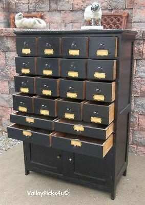Antique Apothecary Cabinet Cupboard ~ 20 Drawers Hardware Storage Organizer