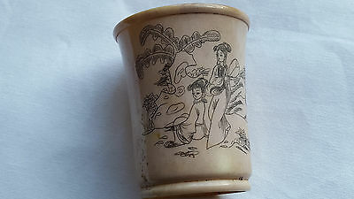 Antique Chinese Hand Carved Picture and Writing