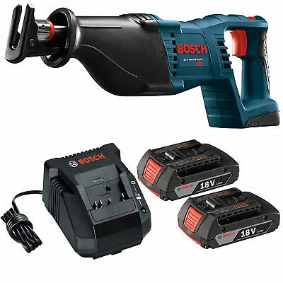 BOSCH CRS180-RT 18V Cordless Reciprocating Saw 2 BAT612 Batteries & Charger