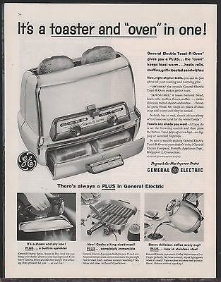 1959 GE General Electric Toaster Oven AD Collectible Retro Kitchen ADVERTISING