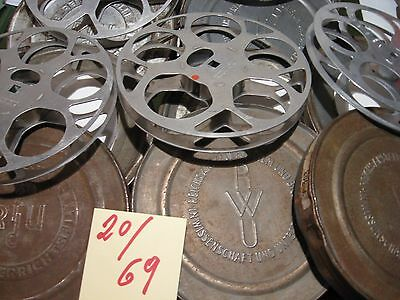 16 mm Antike RWU Metall 5 Filmspulen/Dose um 1930 für je 120 m.Antique film reel