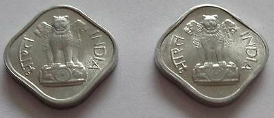 Lot Of 2 - 1966 / 1967 INDIA 1 Paise (F1000)