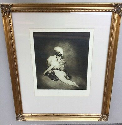 Norman Lindsay Desire No 278/550  Limited Edition Facsimile Etching