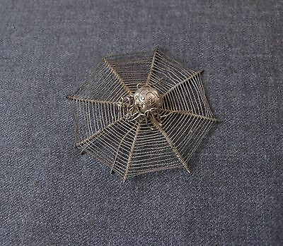 Vintage Silver Plated Filigree Spider Web Applique Jewelry Findings  #1