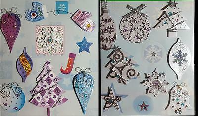 Sparkle Handmade 3D Christmas Stickers for Card Making NEW