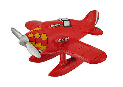 Red and Yellow Propeller Airplane Coin Bank