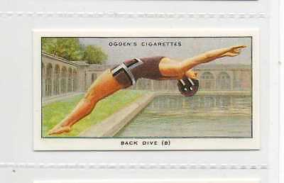 #44 back dive (b) the flight swimming r card