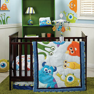 Disney Baby Monsters, Inc 4 Piece Crib Bedding Set