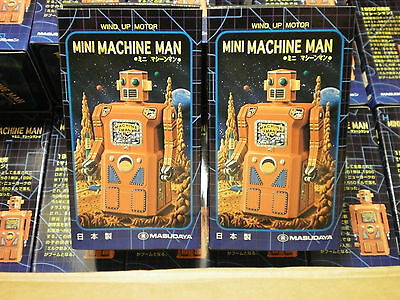 30x MASUDAYA JAPAN MINI MACHINE MAN UHRWERK ROBOTER von 1997 in OVP Space Toy