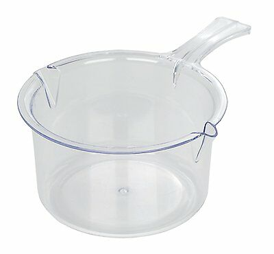 Easy Cook 0.6 Litre Polly Carbonate Microwave Sauce Pan, Clear