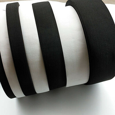 10yards From 15mm to 60mm Black or White Braided Elastic Ribbon Elastics Bands