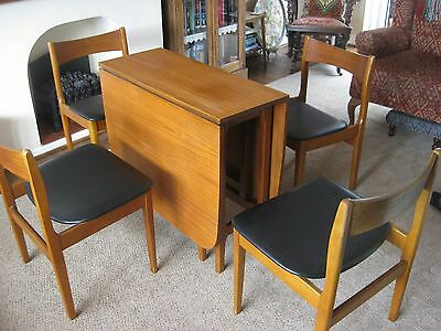 1970's Mid Century Teak Dining table and 4 Chairs. FREE LOCAL DELIVERY