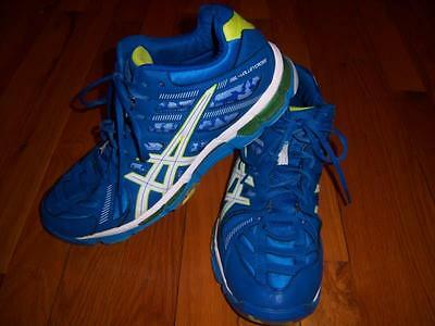 Mens Blue & White Asics Gel Volleycross Trusstic Shoes Sneakers Size 10 M