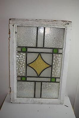 STAINED glass with LEADED framed windows 1930's Victorian big window