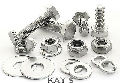M8 Choice Of Fully Threaded Bolts,Nuts Or Washers A2 Stainless Steel Screws