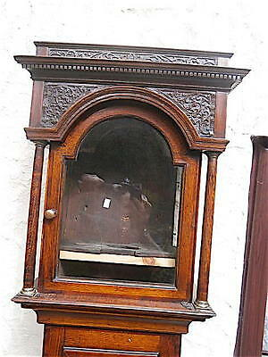 EARLY OAK c1750   LONGCASE CLOCK case  11x15 inch dial