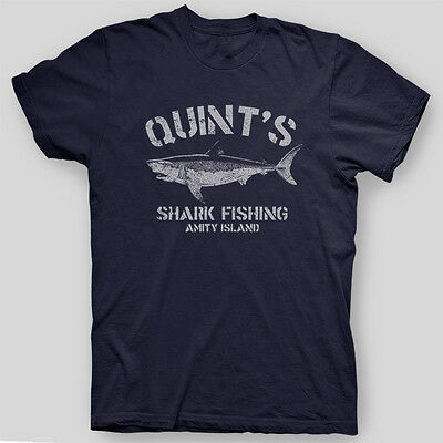 QUINT'S SHARK FISHING Jaws Amity Island Brody Orca Spielberg T-Shirt SIZES S-5X