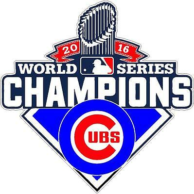 Chicago Cubs World Series 2016 Champions Vinyl Decal Sticker 4""