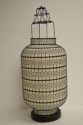 Large  Asian Chinese White Fabric Lantern Feng Shui Home Decoration