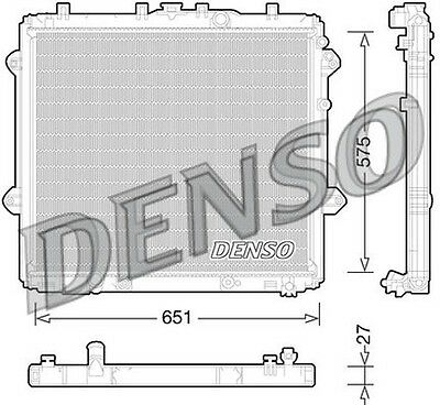 Denso Radiator DRM50060 Replaces 1640031710/OP320