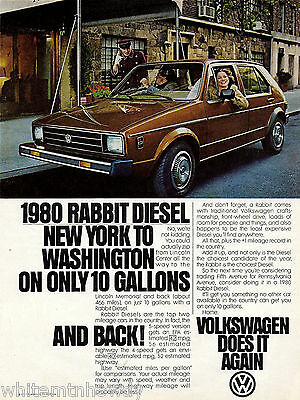 1980 Volkswagen VW Rabbit  Diesel Car Photo AD