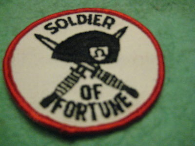 "Vintage Soldier Of Fortune Patch Sew On 3"" X 3"""