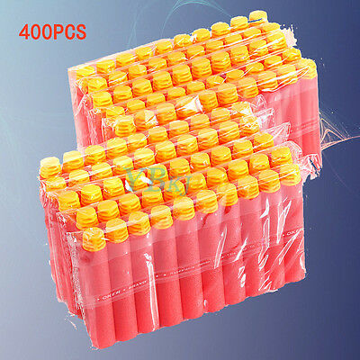 400pcs Toy Refill Gun Darts Blasters Soft Head Bullets RED for Elite NERF EASY