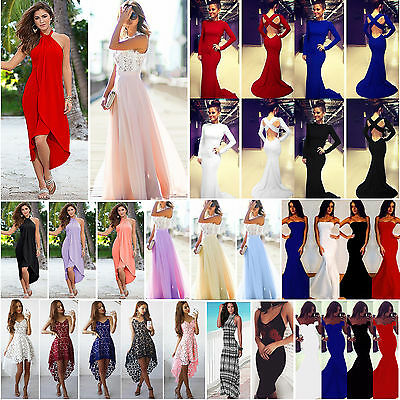 Womens Formal Prom Dresses Ladies Cocktail Evening Party Wedding Long Maxi Dress