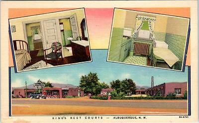 ALBUQUERQUE, New Mexico  NM   Route 66  KING'S REST COURTS  Roadside Postcard