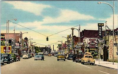 TUCUMCARI, New Mexico  NM    Business District  ROUTE 66  Street Scene  Postcard