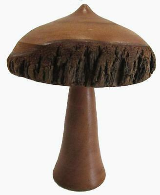 Mulga Wood Mushroom Vintage Crafted Wood 7 cm Diameter 9.5 cm High
