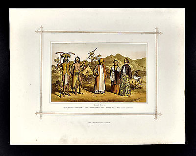 1883 Blackie Print Malay Race Borneo Loondoo Dyak Natives Java East Indies Asia