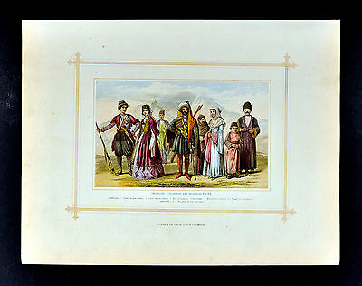 1883 Blackie Print - Caucasian Race - Georgian Circassian Armenian - Middle East