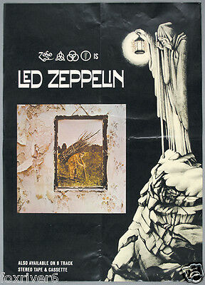 LED ZEPPELIN IV Album Promotional Handbill 1971 - reprint