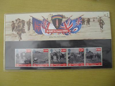 D-DAY 6 June 1944 Royal Mail Mint Stamps