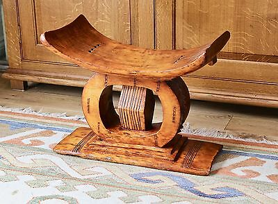 mid 20th century (or earlier ? ) hand carved African asante / ashanti stool