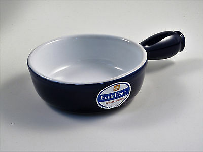 EMILE HENRY 11cm Individual Caquelon / Fondue Pot (Blue or Cream) NEW & UNUSED