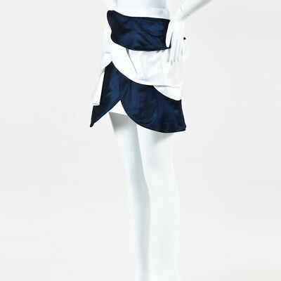 165aedfc8 J.W. Anderson NWT Navy White Silk Satin Layered