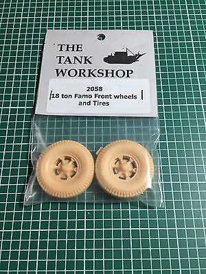 THE TANK WORKSHOP 2058 - 18ton FAMO FRONT WHEELS AND TIRES - 1/35 RESIN KIT