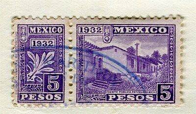 MEXICO;  1932 early issue 5P. purple used value