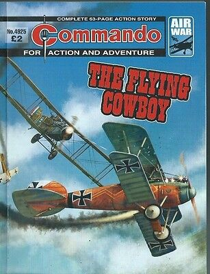 The Flying Cowboy,commando For Action And Adventure,no.4925,war Comic,2016