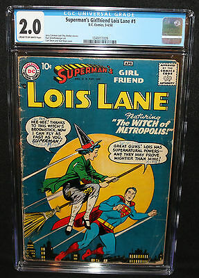 Superman's Girlfriend Lois Lane #1 - Witch of Metropolis - CGC Grade 2.0 - 1958