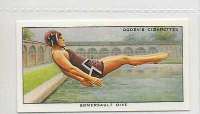 #49 somersault dive swimming r card