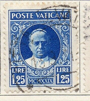 Vatican City Italy 1929 Early Issue Fine Used 1.25L. 149239